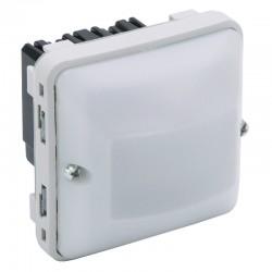 Legrand - Détecteur de mouvements toutes lampes avec neutre 3 fils 230V~ Plexo composable IP55 - blanc - Réf : 069522