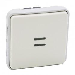 Legrand - Interrupteur ou va-et-vient lumineux Plexo composable IP55 10AX 250V - blanc - Réf : 069613