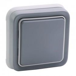 Legrand - Interrupteur ou va-et-vient Plexo complet IP55 encastré 10AX 250V - gris - Réf : 069811