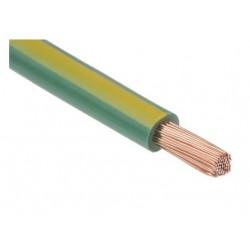 Fil H07 V-K (Souple) 6 mm² - Coupe au mètre - Vert/Jaune - Réf : 001636/1