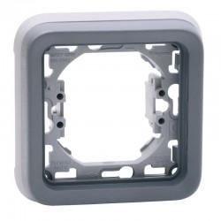 Legrand - Support plaque 1 poste Plexo composable IP55 - gris - Réf : 069681