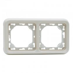 Legrand - Support plaque 2 postes horizontaux Plexo composable IP55 - blanc - Réf : 069694