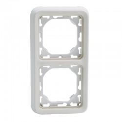 Legrand - Support plaque 2 postes verticaux Plexo composable IP55 - blanc - Réf : 69696