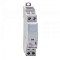 Legrand - Contacteur de puissance bobine 230 V~ - 2P - 250 V~ - 25 A - 2 F - 1 module - Réf : 412523
