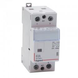 Legrand - Contacteur de puissance CX³ bobine 230V~ sans commande manuelle - 2P 250V~ - 63A - contact 2F - 2 M- Réf : 412527
