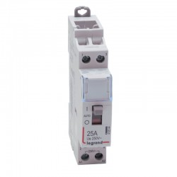 Legrand - Contacteur de puissance bobine 230 V~ - 2P - 250 V~ - 25 A - 2F - 1 module - Réf : 412544
