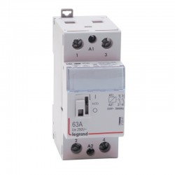 Legrand - Contacteur de puissance bobine 230 V~ - 2P - 250 V~ - 63 A - 2F - 2 modules - Réf : 412547