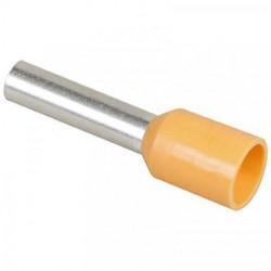 Mecatraction - Embout de câblage pré-isolé - Orange - 4mm² - Réf : CA042
