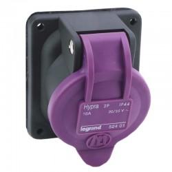 Legrand - Prise de courant fixe 2P Hypra IP44 TBT 16A - 20V~ à 25V~ - plastique - Réf : 052401