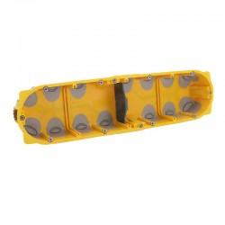 Legrand - Boîte multipostes Prog. Ecobatibox - 4 postes - 8/10 modules - prof. 40 mm - Réf : 080024