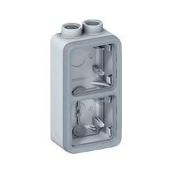 Legrand - Boîtier presse-étoupe Prog Plexo composable gris - 2 postes verticaux - PG 16 - Réf : 069664