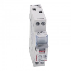 Legrand - Interrupteur-sectionneur DX³-IS - 2P 400 V~ - 32 A - 1 module - Réf : 406434