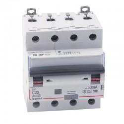 Legrand - Disjoncteur différentiel monobloc DX³6000 10kA à vis 4P 400V~ - 20A - typeF 30mA - Réf : 411245