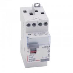 Legrand - Inter diff DX³-ID - vis/vis - 2P - 230V~ - 40 A - type AC - 30mA - départ haut - 2M - Réf : 411611