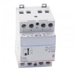 Legrand - Contacteur de puissance bobine 230 V~ - 4P - 250 V~ - 63 A - 4F - 3 modules - Réf : 412556