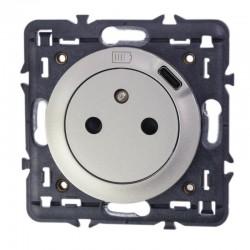 Legrand - Prise Surface Céliane avec chargeur Type-C intégré - livrée avec support et enjoliveur titane - Réf : 068427