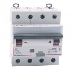 Legrand - Disjoncteur différentiel monobloc DX³6000 10kA à vis 4P 400V~ - 32A - typeF 30mA - Réf : 411247