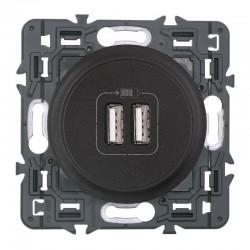 Legrand Céliane - Prise double chargeur USB - Ensemble Graphite à Griffes - à composer - Réf : 099543G
