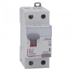 Legrand - Inter diff DX³-ID - vis/vis - 2P- 230V~ - 40A - type AC - 30mA - départ bas - 2M - Réf : 411505