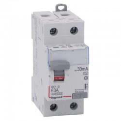 Legrand - Inter diff DX³-ID - vis/vis - 2P- 230V~ - 63A - type A - 30mA - départ bas - 2M - Réf : 411556