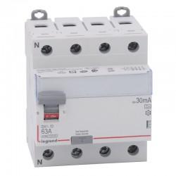 Legrand - Inter diff DX³-ID - vis/vis - 4P - 400V~ - 63A - type A - 30mA - départ bas - 4M - Réf : 411676