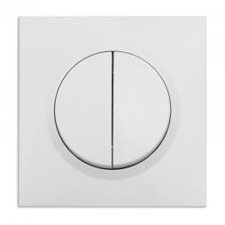 Legrand - Double interrupteur ou va-et-vient dooxie 10AX 250V~ livré avec plaque carrée blanche et griffes - Réf : 095011