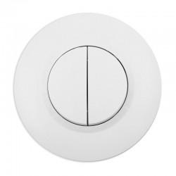 Legrand - Double interrupteur ou va-et-vient dooxie 10AX 250V~ livré avec plaque ronde blanche et griffes - Réf : 095051