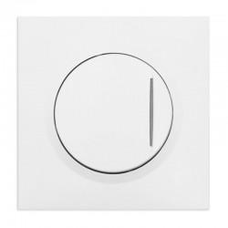 Legrand - Inter ou va-et-vient avec voyant témoin dooxie one 10AX 250V~ avec plaque carrée blanche et griffes - Réf : 600710