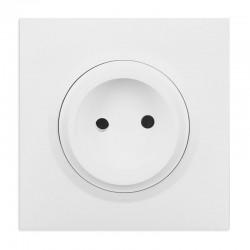 Legrand - Prise de courant 2P à puits 16A dooxie one livrée avec plaque carrée blanche et griffes - Réf : 600734