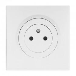 Legrand - Prise de courant 2P+T Surface dooxie one 16A livrée avec plaque carrée blanche et griffes - Réf : 600735