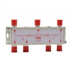 Legrand - Répartiteur télévision 6 sorties typeF - 0MHz à 2400MHz - Réf : 073983