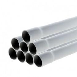 Schneider - Conduit rigide tulipé PVC - ⌀ 20 mm - 24 m (8 tubes de 3m) - Gris- Réf : IMT40620