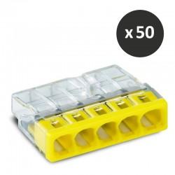 Wago - Bornes pour boîtes de dérivation COMPACT,5 conducteurs - réf : 2273-205(50)